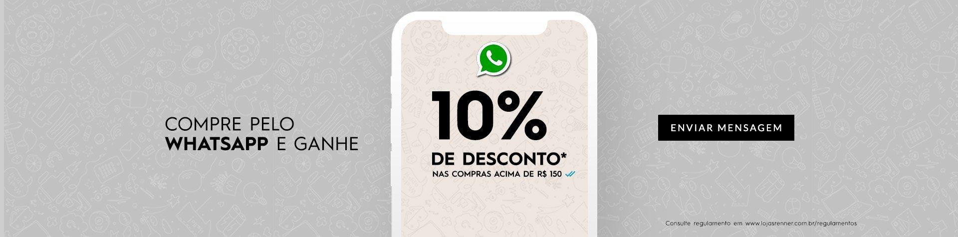 Compre pelo whatsapp e ganhe