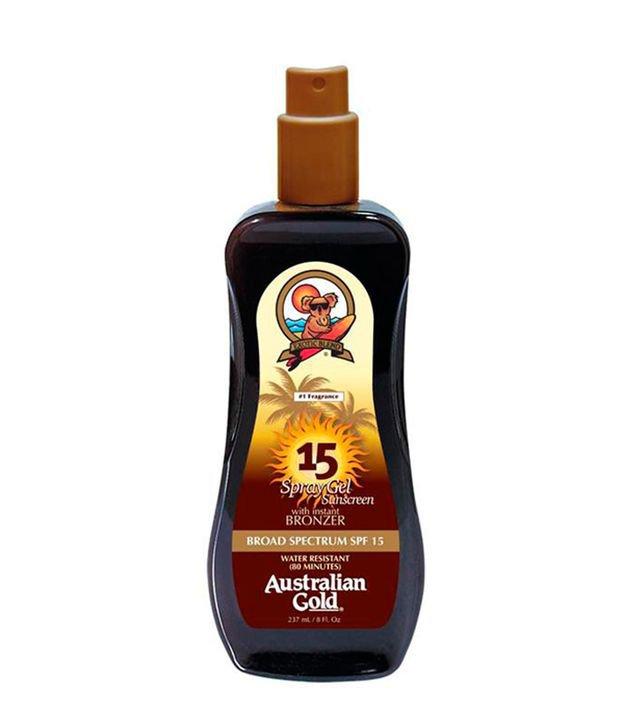 Protetor Solar Australian Gold FPS 15 Instant Bronzer Spray Gel   Australian Gold   237ml