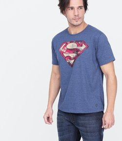 Remera Manga Corta Estampa Super Homen