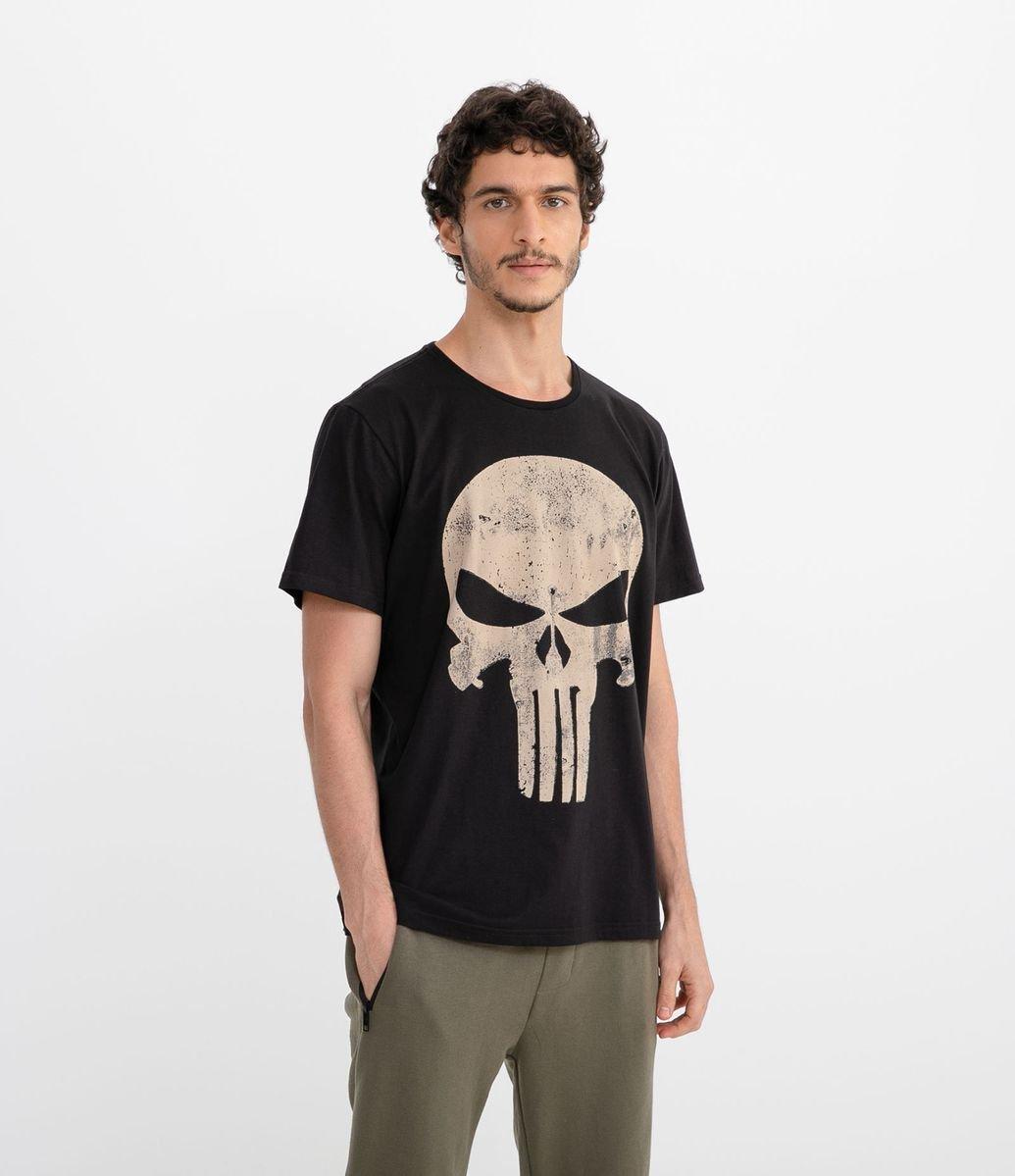 09ca9d938 Camiseta com Estampa Justiceiro - Renner