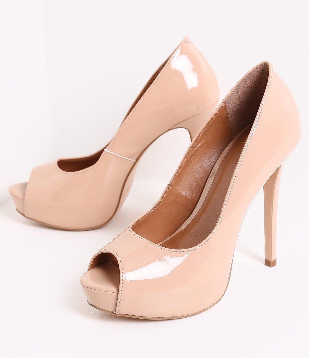 4df2306da8 Menor preço em Sapato Feminino Peep Toe Envernizado Satinato