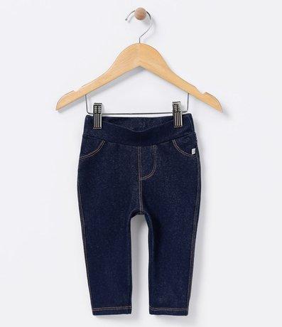 Calça Legging Infantil Imitando Jeans - Tam 0 a 18 meses
