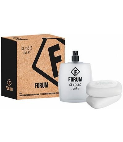 Kit Forum Classic Jeans Unissex Perfume 100ml + 2 Sabonetes 90g  - Forum