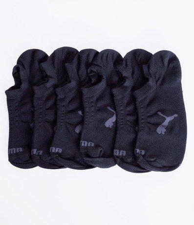 Kit com 3 Meias Masculinas Invisíveis Puma