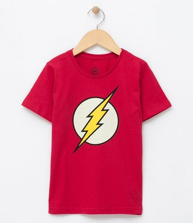 Camiseta Fantasia Infantil com Estampa The Flash - Tam 2 a 14