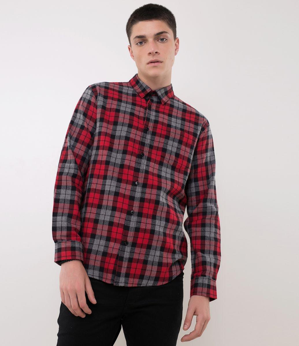 HOME · Masculino · Camisas · Manga Longa  Camisa Xadrez em Flanela. Brinde edde55c88a8e2