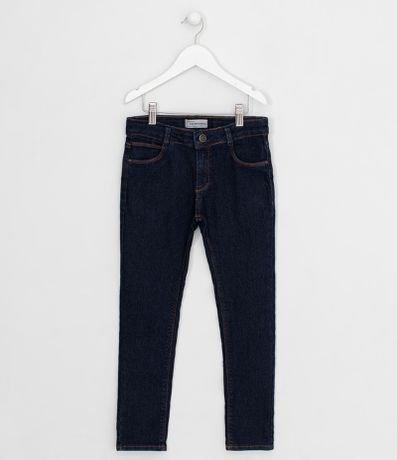 Calça Infantil em Jeans Lisa - Tam 5 a 14