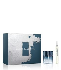 Kit de Perfume Adolfo Dominguez Água de Bombu Masculino Eau de Toilette + Travel Spray