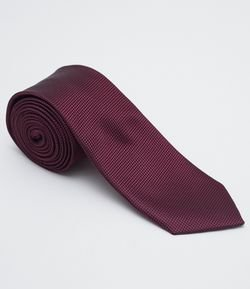 Corbata Masculina Regular Fit Color Bordo Oscuro con Detalles
