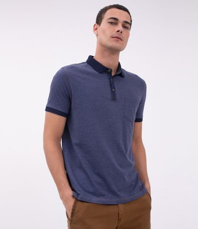Camisa Polo Regular com Bolso