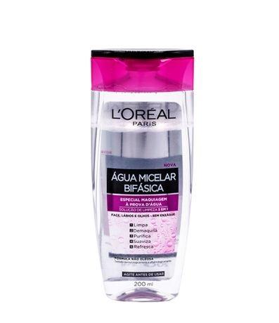 Água Micelar Bifásica - Especial Maquiagem à prova d'água 200ml - L'oréal Paris