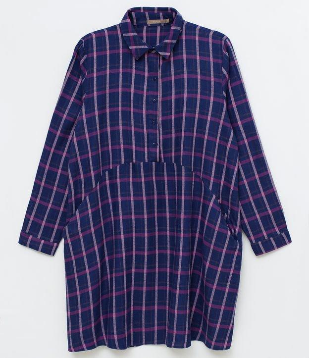 VestidofemininoCurve & Plus Size Em xadrez Com botões Manga longa Marca: Ashua Tecido: tricoline Composição:100% al...