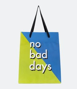 Embalagem de Presente Estampa No Bad Days