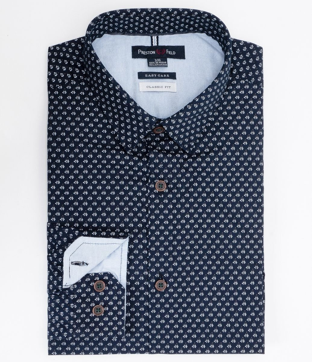 4372cdd749 Camisa Manga Longa Slim Fit Estampada - Renner
