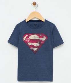 Remera Manga Corta Estampa Superman- Talle 2 a 14