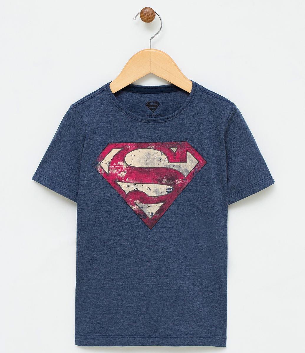 7a9eaa6b0fe7d Camiseta Infantil Estampa Super-Homem - Tam 2 a 14 - Renner