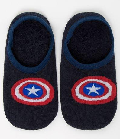 Meia Infantil Sapatilha Capitão America - Tam 19 a 34