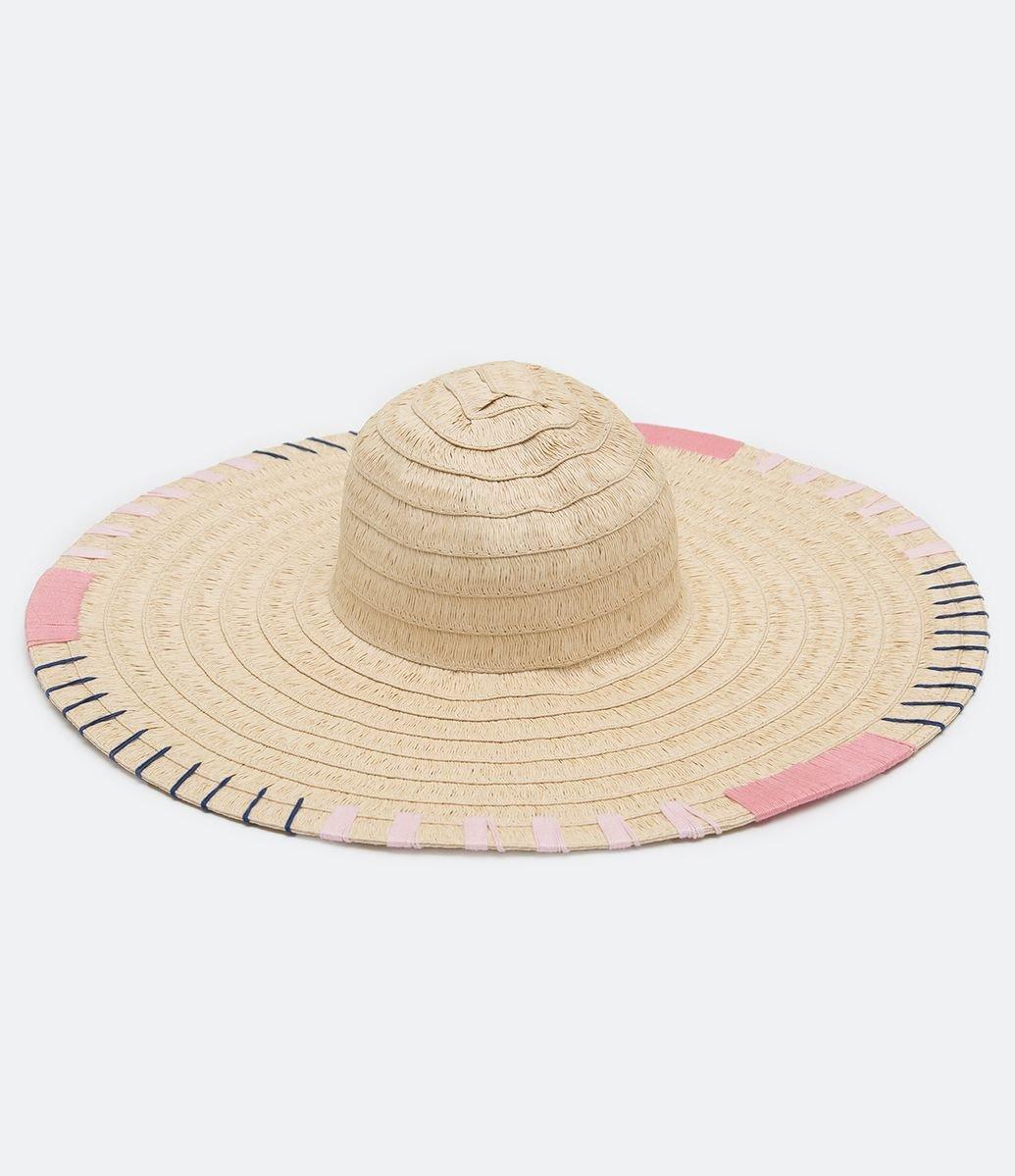 37a5b485c4 Chapéu de Palha com Bordado em Linha - Renner