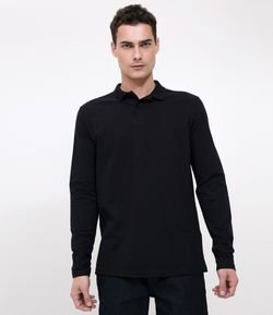 Remera Polo Masculina Manga Larga Regular