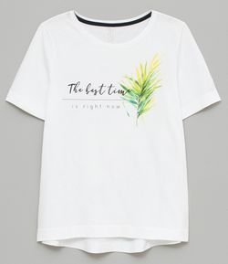 T Shirt com Lettering The Best Time