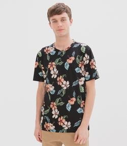 Camiseta Estampa Floral Hibisco