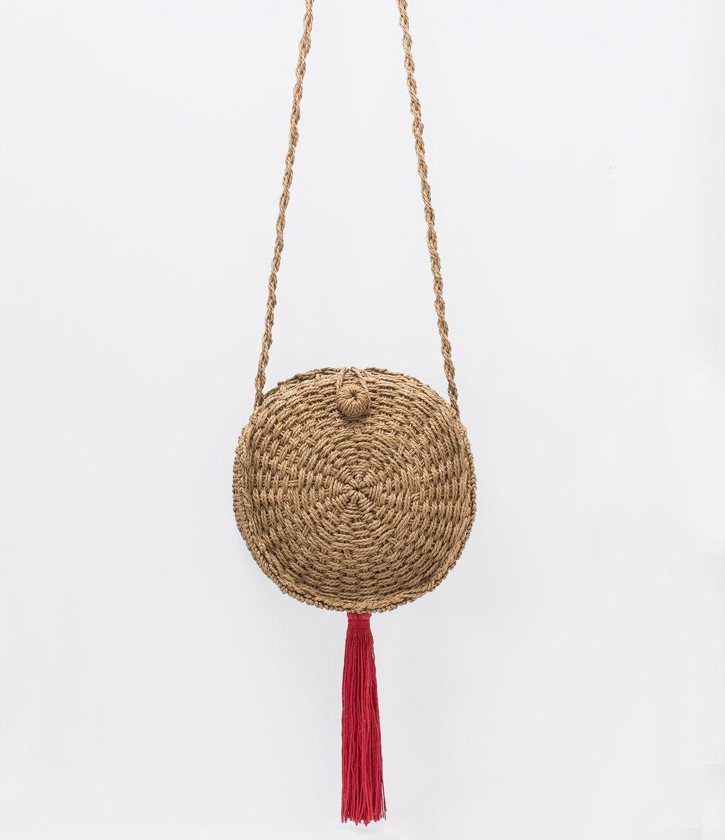 301b7c024 Bolsa de Palha Redonda com Tassel | Menor preço com cupom