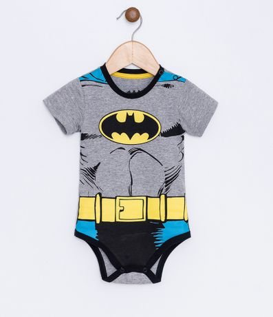 Body Infantil Fantasia do Batman - Tam 0 a 18 meses