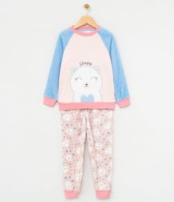 Pijama Infantil en Fleece Bordado Osos Polar