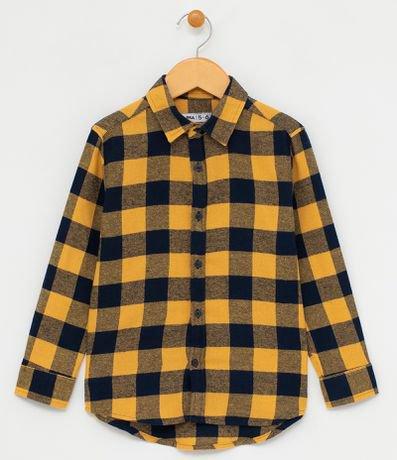 Camisa Infantil Xadrez - Tam 5 a 14