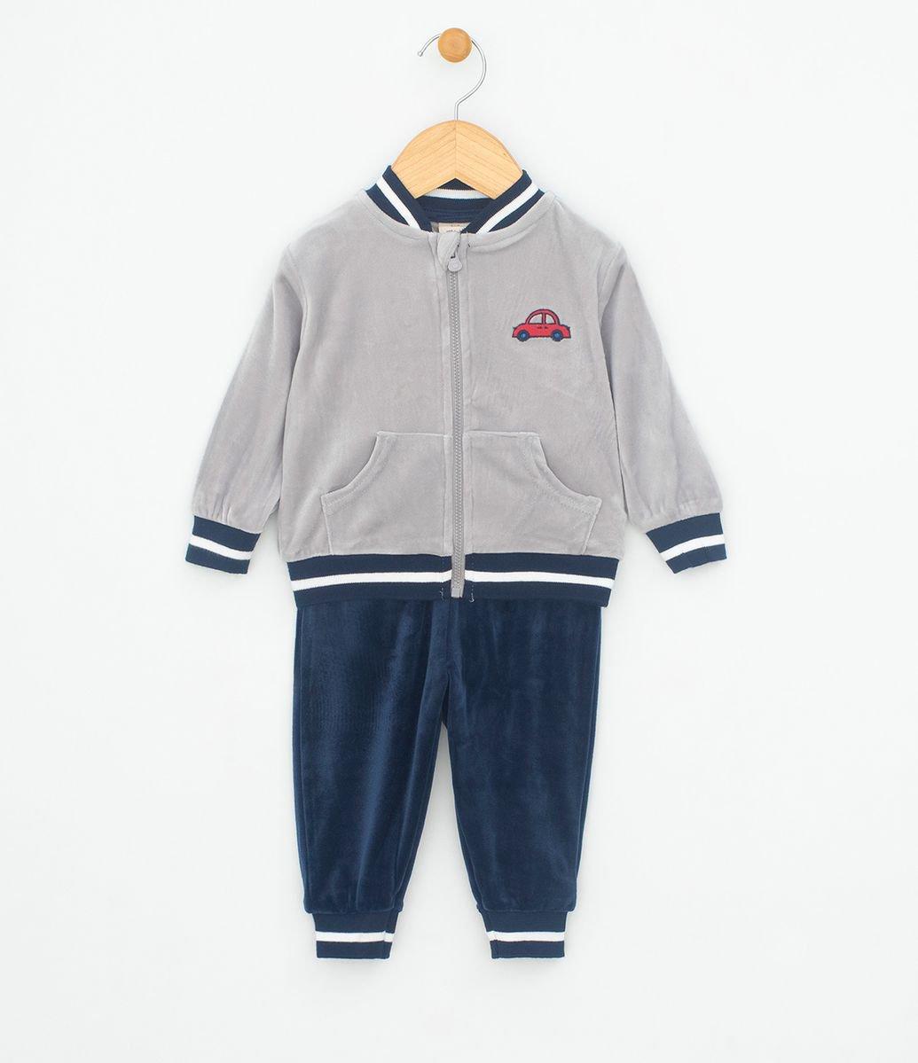 0e42824103 Conjunto Infantil com Casaco Bordado e Calça com Punho em Push - Tam ...