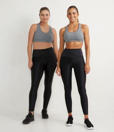 Calça Legging Esportiva com Textura