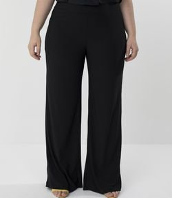 Calca Pantalona  Lisa Curve & Plus Size