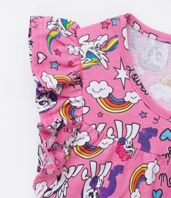 Vestido Infantil com Estampa My Little Pony - Tam 4 a 12