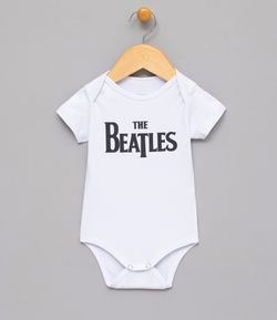 Body Infantil Estampa The Beatles - Tam 0 a 18 meses