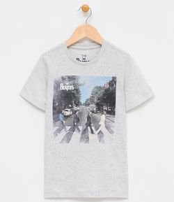 Camiseta Infantil com Estampa The Beatles - Tam 5 a 14