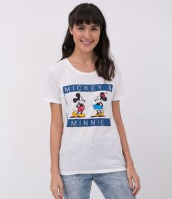 Blusa com Estampa Mickey e Minnie