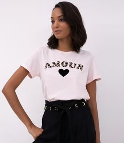 Blusa Manga Curta Amour Animal Print