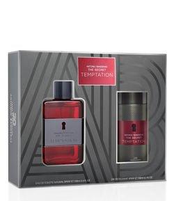 2168f2603cab3 Kit Antonio Banderas The Secret Temptation Masculino Eau de Toilette +  Desodorante