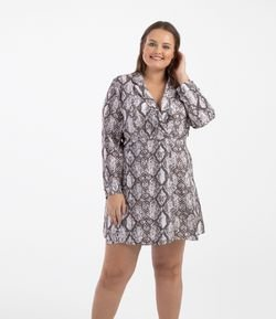 Vestido Animal Print Curve & Plus Size