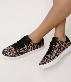 Tênis Feminino Animal Print Satinato