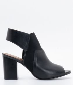 6b02fe77ac Sapato Feminino Peep Toe com Elástico Satinato