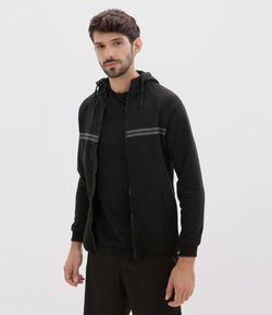 Casaco Tech Fleece com Refletivo no Peito com Capuz