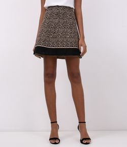 Saia Curta Estampa Animal Print
