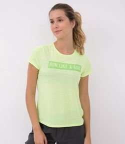 Camiseta Esportiva Estampa Run Like a Girl