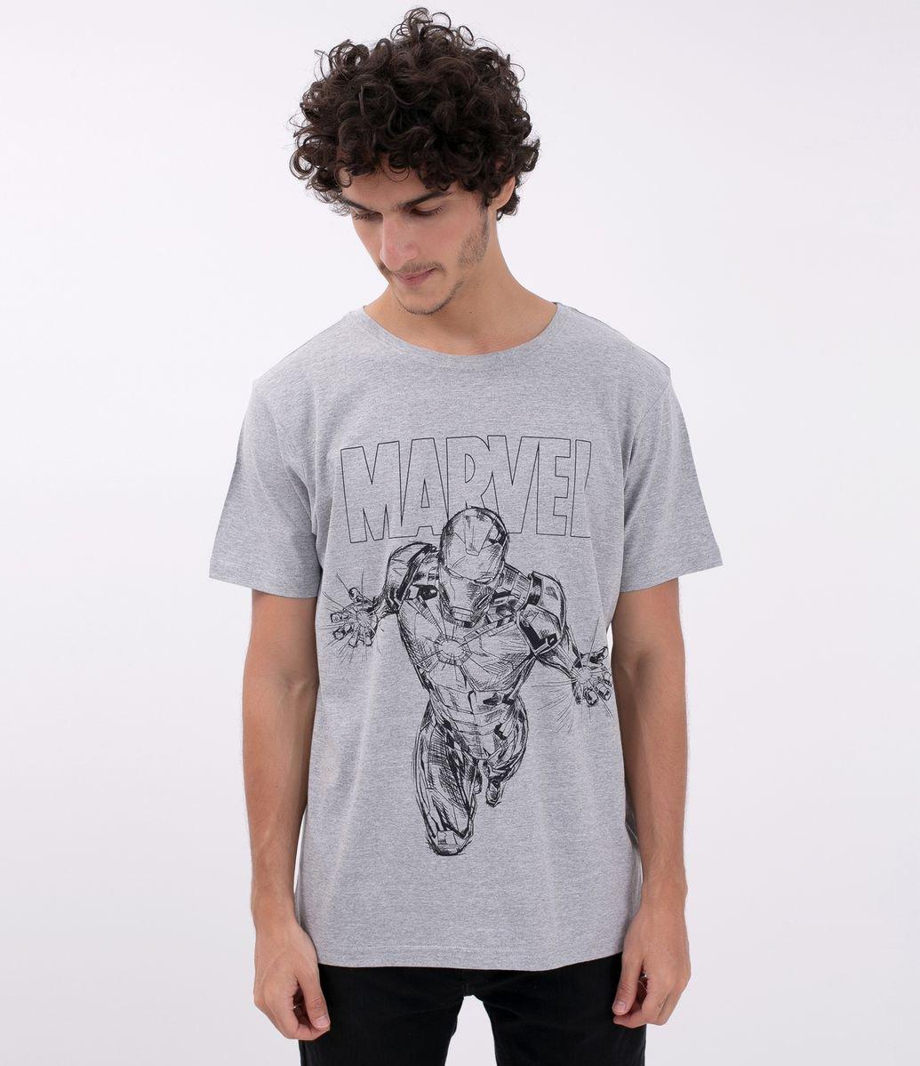 Camiseta com Estampa Homem de Ferro - Marvel