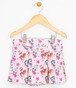 Short Saia Estampado LoL - Tam 4 a 12