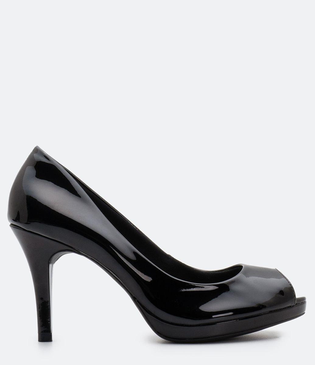 ba6d010db ... Sapato Feminino Peep Toe Via Marte. Brinde