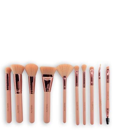 Conjunto de Pincéis para Maquiagem com Necessáire