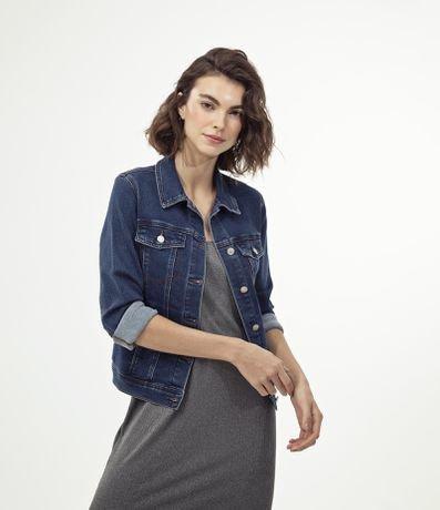 Jaqueta Jeans com Bolsos