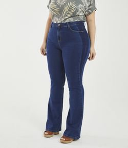 Calça Boot Cut Lisa Curve & Plus Size
